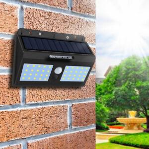 Solar Power Wall Mount 15LED Light Outdoor Garden Path Landscape Fence Yard Lamp