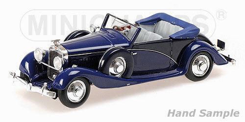 MINICHAMPS 437091030 - Hispano-Suiza J12 1935 cabriolet blue   1 43