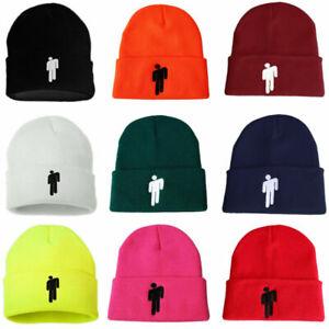 12-Color-Billie-Eilish-Beanie-Hot-Topic-Knit-Hat-Stretchy-Cap-Women-Men-Knit-Hat
