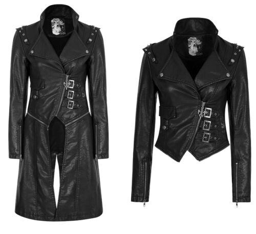 Manteau blouson cuir transformable gothique punk lolita zips clous mode Punkrave