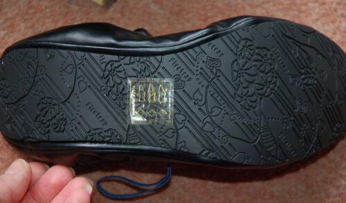 azules estilo Firetrap Nuevo y negras zapatillas 6 Sz elásticas planas Zapatillas plegables 8xAg0Zqw