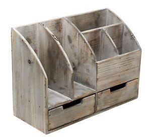 Image Is Loading Vintage Rustic Wooden Office Desk Organizer Book Shelf
