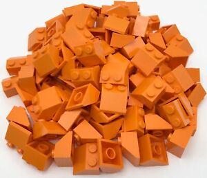 Lego-100-New-Orange-Slope-45-2-x-2-Sloped-Pieces