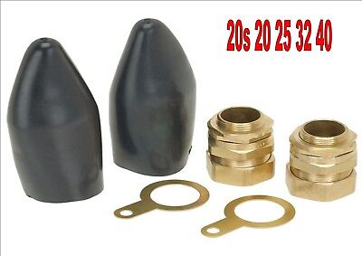 Brass outdoor SWA cable glands earthing shroud armoured steel wire various sizes