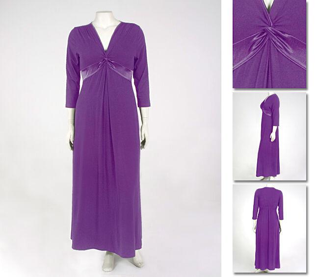 NEW   Zaftique SATIN KNOT DRESS Purple 3Z 4Z   24 28   3X 4X