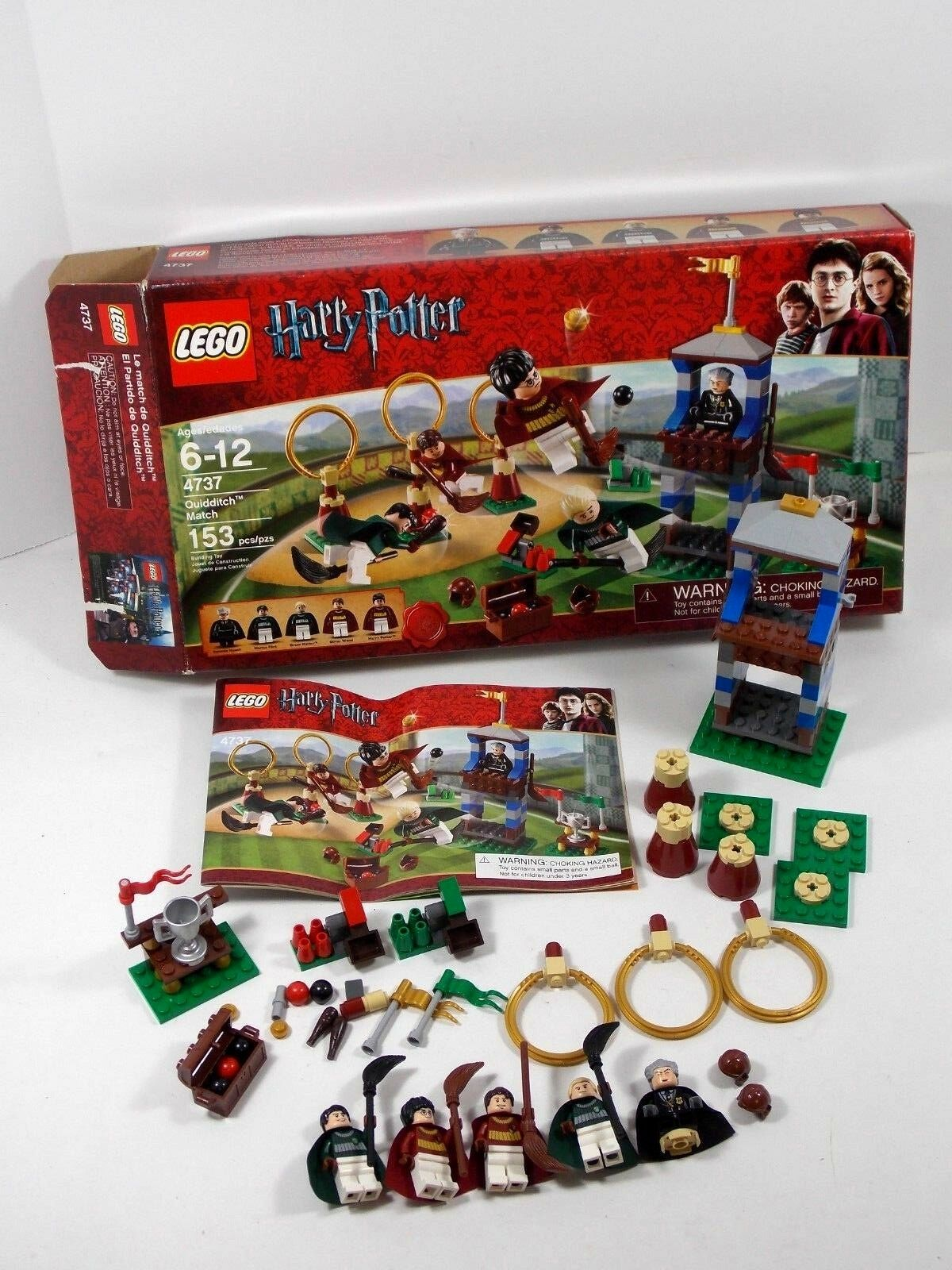 LEGO HARRY POTTER QUIDDITCH MATCH RETIROT BUILDING SET 4737 IN BOX