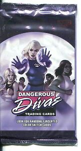 Marvel-Dangerous-Divas-Series-1-Factory-Sealed-Hobby-Packet-Pack