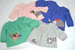 Baby-Boden-filles-fun-applique-robe-Top-100-Coton-Nouveau-Ne-4-ans