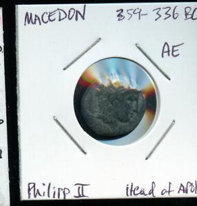 Philip-II-Macedon-359-336-BC-AE18-034-Apollo-amp-Horseman-034-Scarce-CP754