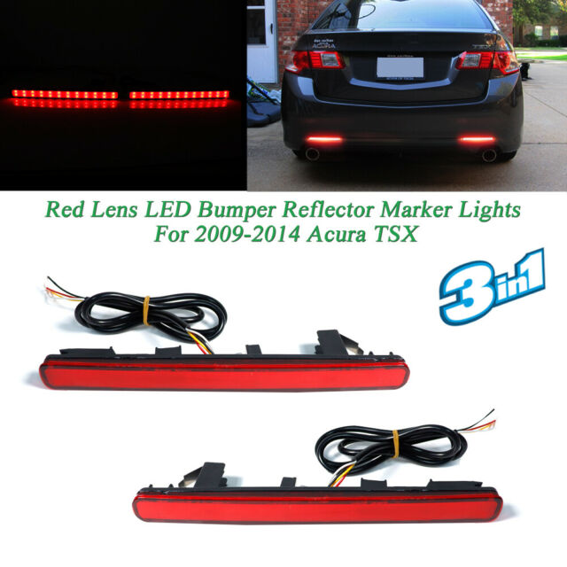 Rear Bumper Sequential Signal Brake Tail Red LED Lights