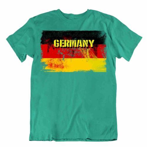 Deutschland T-Shirt Flaggen T-Stück Reise-Andenken Bluse Tee Germany flag Tops