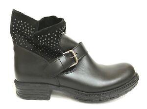 Schuhe Damens ITALY Schuhe Schuhe ITALY STIVALETTI BASSI 102 NERO PELLE INVERNO 81fb66