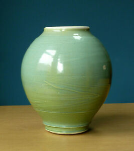 Celadon-Studio-Pottery-Vase-Vessel-Pot-Green-Blue-Contemporary-Ceramics-Art
