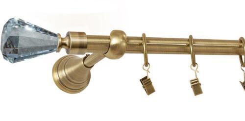Rideaux barre Gold-ancien 120cm à 400cm 1-chaleur ø 19mm rideau tringle