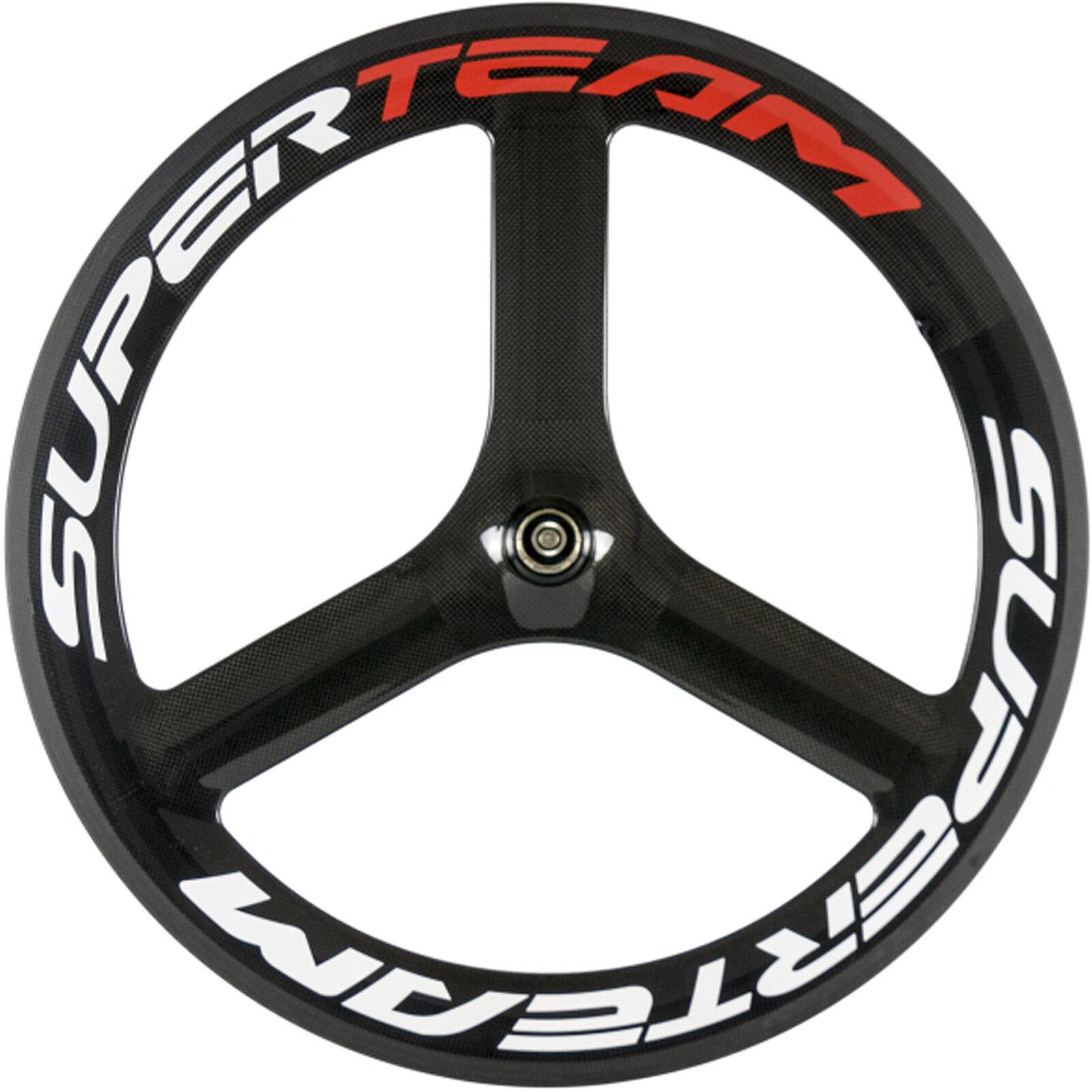 700C Carbon 3 Spoke  Wheel Road Bike Front Tri Spoke 65mm Tri Spoke Bicycle Wheel  free shipping worldwide