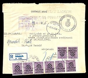 GERMANY CROATIA (NDH) WWII PORTED OFFICIAL LETTER sent 26.09.1941. Very attracti