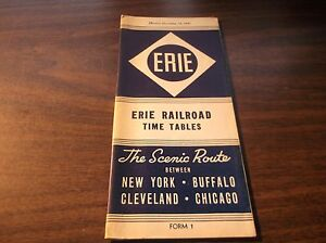 NOVEMBER-1943-ERIE-RAILROAD-FORM-1-SYSTEM-PUBLIC-TIMETABLE