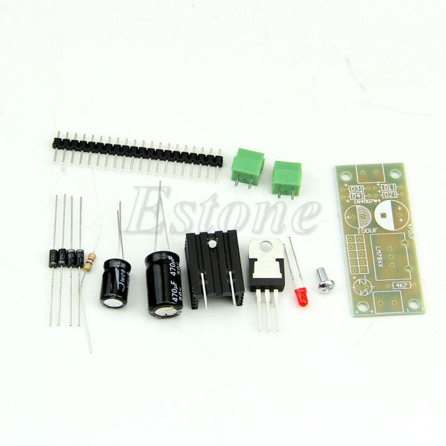 LM7805 L7805 Step Down Converter to 5V Regulator Power Supply Module Components