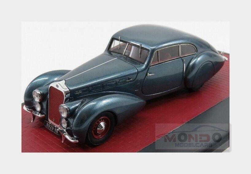 Delage d8-120 s pourtout coupé 1938 blau traf matrix 1 43 mx50407-041 modell