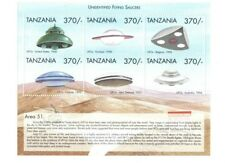 Tanzania 1999 UFO'S Stamps - Sheet of 6 Stamps - MNH