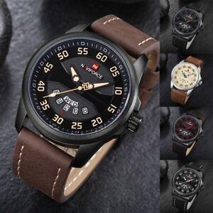 NAVIFORCE-Fashion-Mens-Analog-PU-Band-Calendar-Casual-Waterproof-Quartz-Watches