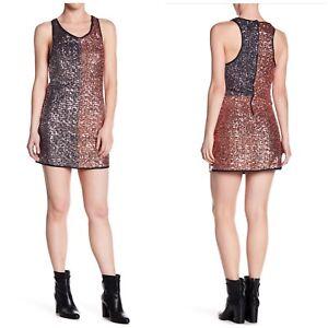 One-Teaspoon-Scarface-Sequin-Dress-Bronze-Silver-Woman-XXS-Party-Evening-Event