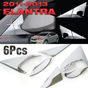 Chrome-Mirror-Bracket-C-Pillar-K-036-For-HYUNDAI-2011-2016-Elantra-Avante-MD