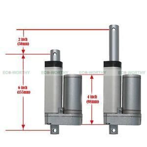 2 12v heavy duty linear actuator electric motors for for Heavy duty dc motor