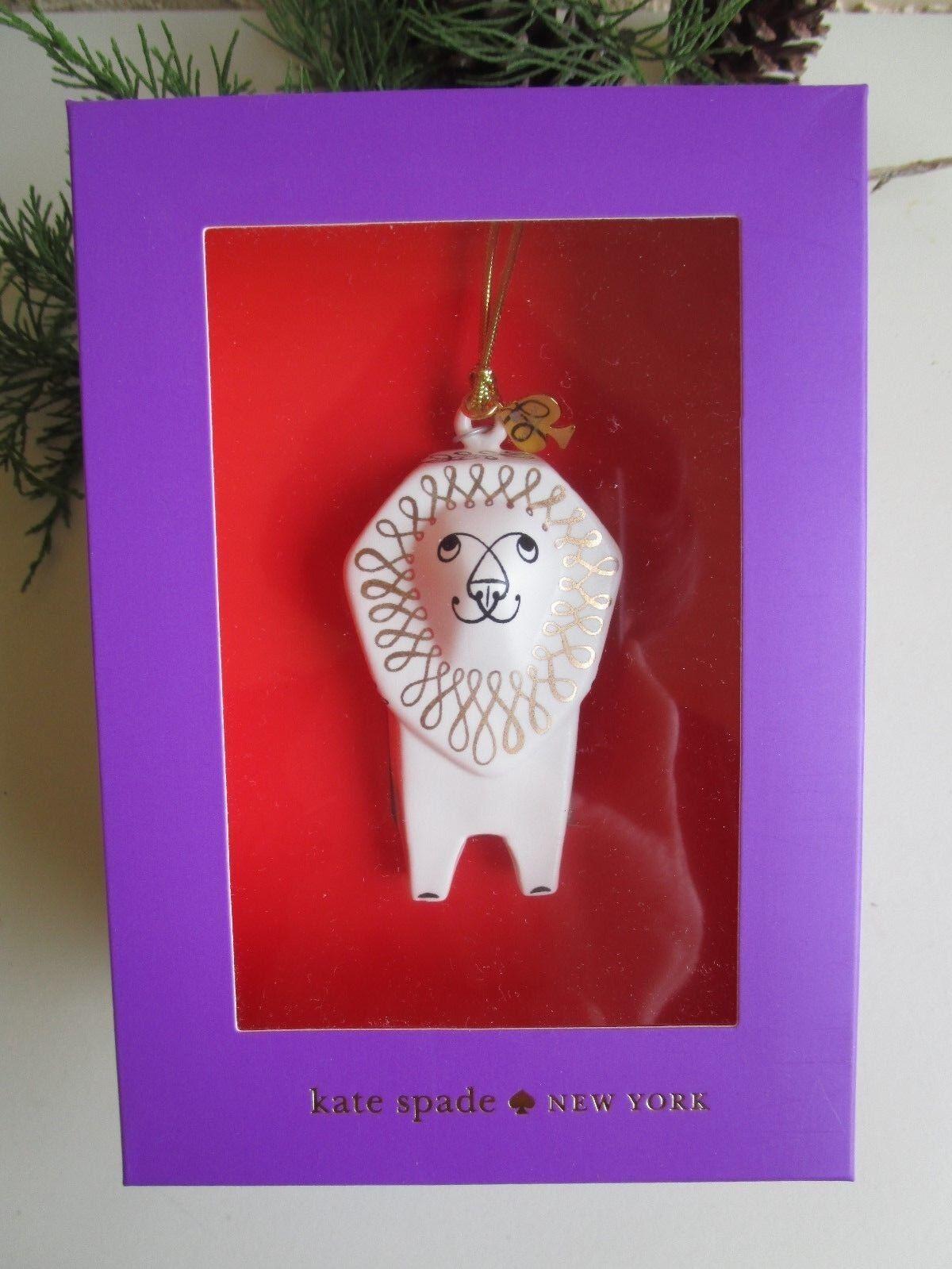 Kate Spade Woodland Park Lion Lenox China Christmas Ornament   eBay