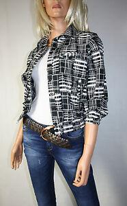 Cora-Kemperman-Designer-Jacke-Blazer-Gr-S-Schwarz-Weiss