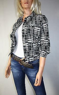 Cora Kemperman Designer Jacke  Blazer  Gr L Schwarz- Weiß  %%%