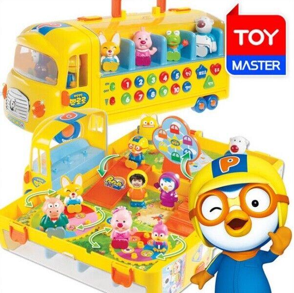 PGoldRO Melody School Bus & 10 PGoldro Friends Figures Play Set Hobby Toys_amga