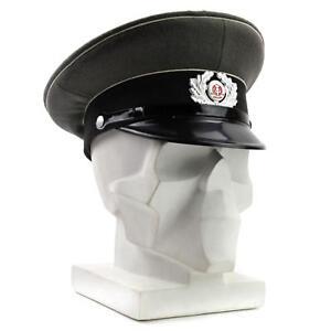 Details about Original German NVA army visor hat. Grey East German military peaked  cap ffad5698dbc