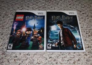 LEGO Harry Potter: Years 1-4 & Half Blood Prince Nintendo Wii Lot Bundle