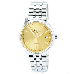 Ball-Men-039-s-Watch-Trainmaster-Legend-Automatic-Gold-Tone-Dial-NM2030D-SJ-GO