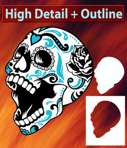 Skull 1 Special Two Layer Airbrush Stencil Spray Vision Template air brush