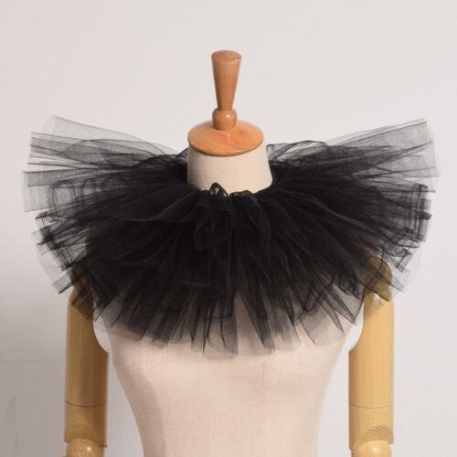 Retro Victorian Edwardian Mesh Neck Ruff Vintage Ruff Neck Piece Costume Collar