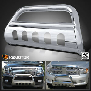 Details about Fit 97-04 Ford F150 F250 Lightduty S/S Front Bumper Bull Bar  Push Grille Guard