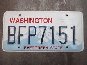 Washington-BFP7151-American-License-Number-Plate-Collecting-Craft-Hobby