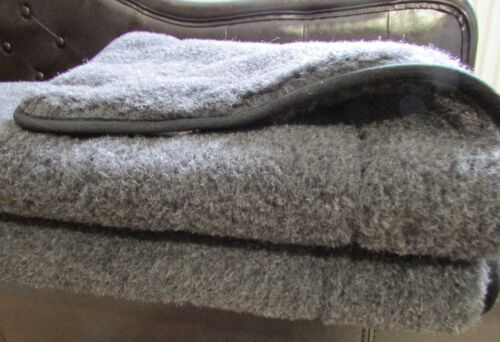 Upper Bed Anthracite with tape, Blanket, Bedspread, Camping Blanket Merino Wool