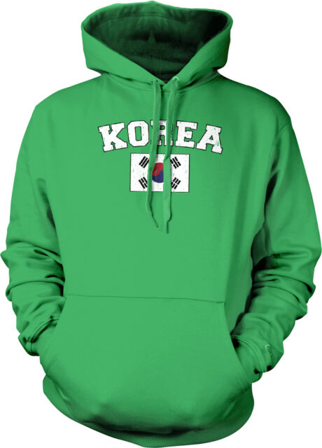 South Korea Flag Crest Korean National Country Pride 2-tone Hoodie Pullover
