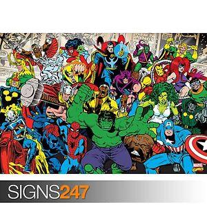 1027 MARVEL COMIC RETRO IMAGE Photo Picture Poster Print Art A0 A1 A2 A3 A4