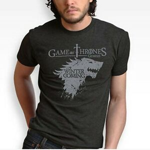 GAME-OF-THRONES-house-Stark-Dire-Wolf-100-COTTON-T-SHIRT-Short-sleeve-S-XXL