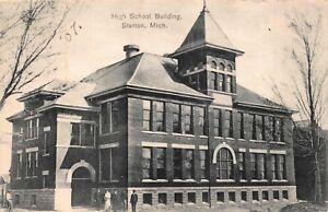 Postcard-High-School-Building-in-Stanton-Michigan-119665