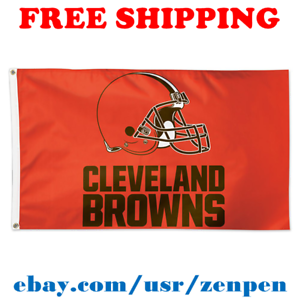 Deluxe-Cleveland-Browns-Team-Logo-Flag-Banner-3x5-ft-NFL-Football-2019-NEW