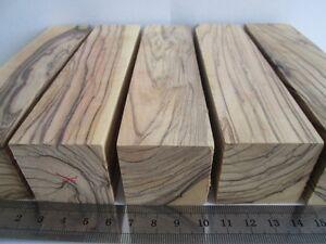 6 Large Olivewood Turning Blanks Pen Knife Handles
