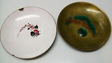 Enamel Copper Plates Bovano Set 2 Handcrafted Bovano of Cheshire CT Vintage
