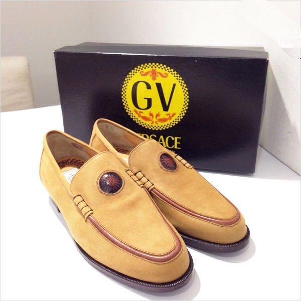 VERSACE para hombres zapatos talla 42 Beige De Negocios