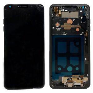 LG-G6-Display-Einheit-ACQ90289901-Modul-LCD-Glas-Rahmen-Gehaeuse-Schwarz-Ersatz