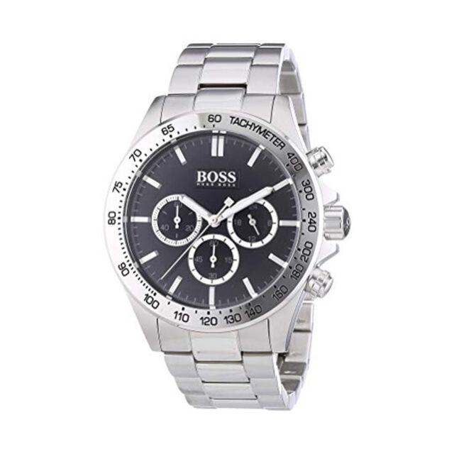 8604375f7552 Hugo Boss 1512965 Cronógrafo Cuarzo Acero Inoxidable Negra Dial Hombre Reloj